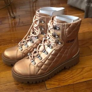 Guess pink jeweled snow boots